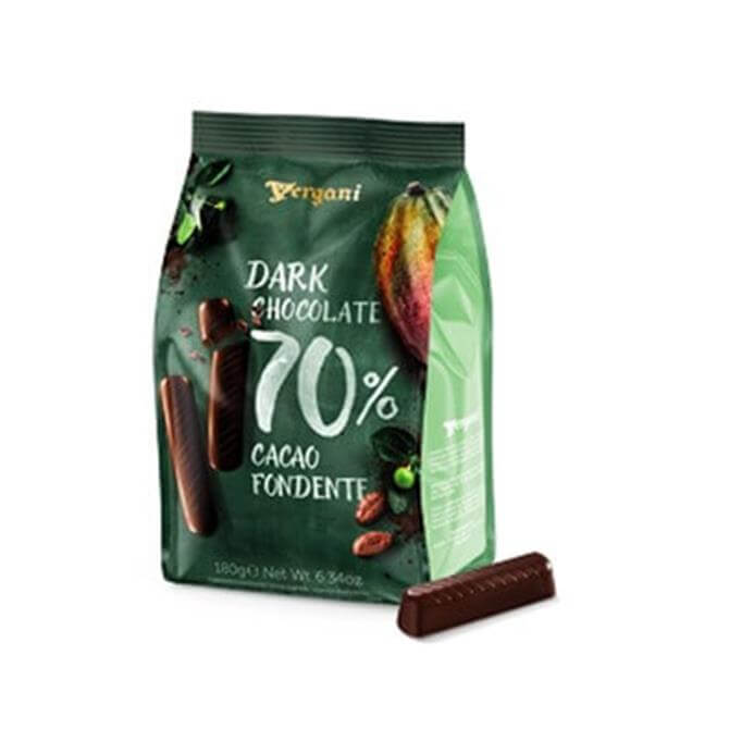 Vergani Dark Chocolate Stick 70% Cacao Fondente 180g