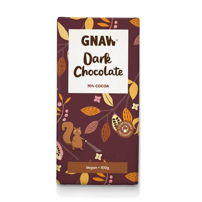 Gnaw Dark Chocolate Bar 70% Vegan 100g