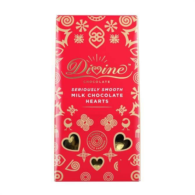 Divine Milk Chocolate Fairtrade Hearts 80g