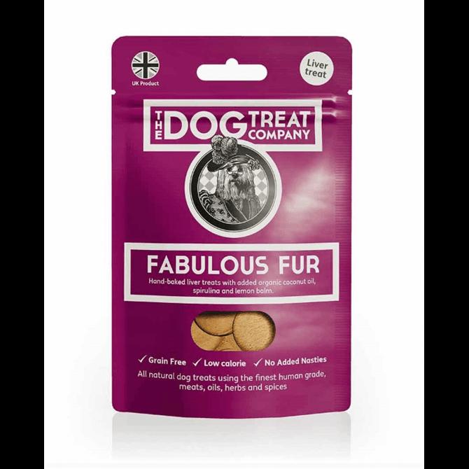 The Dog Treat Company Fabulous Fur Premium Liver Dog Treats 50g