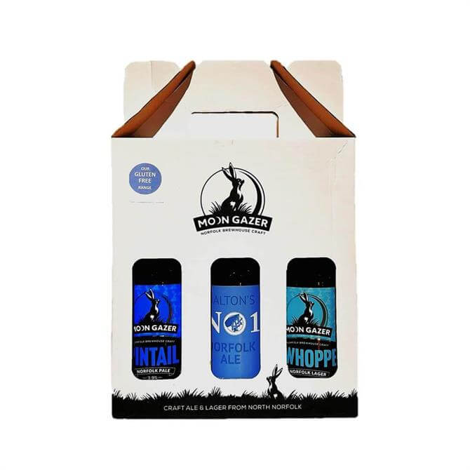 Moon Gazer Gluten Free Craft Ale and Lager Gift Set 3x 500ml