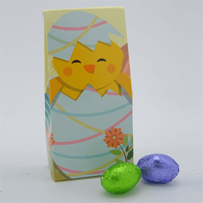 House of Flavour Mini Chick Box with milk chocolate eggs 30g