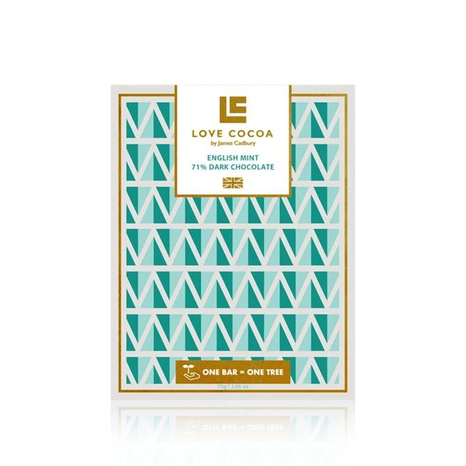 Love Cocoa English Mint Dark Chocolate Bar 75g