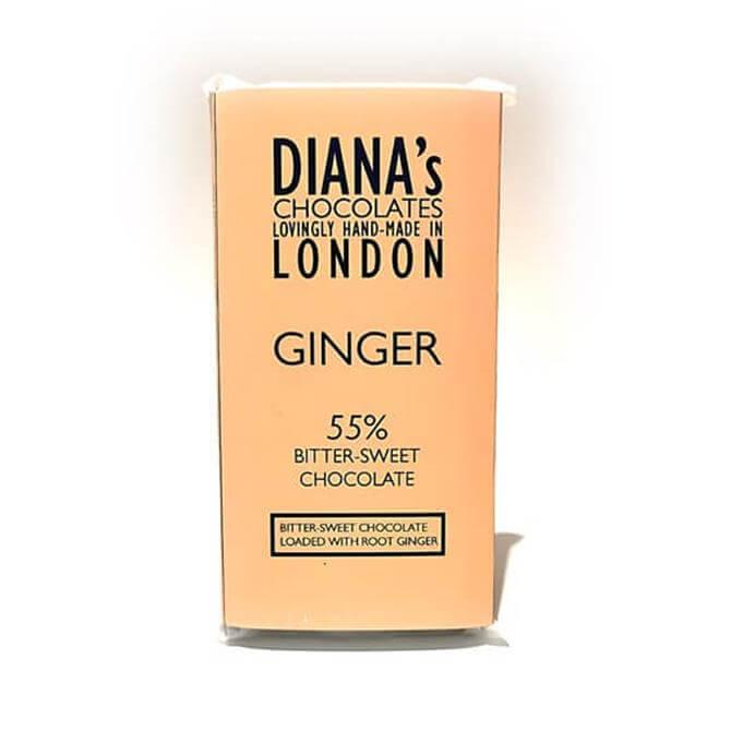 Diana's Root Ginger Bitter Sweet Dark Chocolate 100g