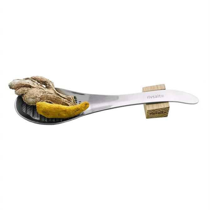 RIVSALT 105 Premium Ginger and Tumeric  and Stainless Steel Spoon-Grater