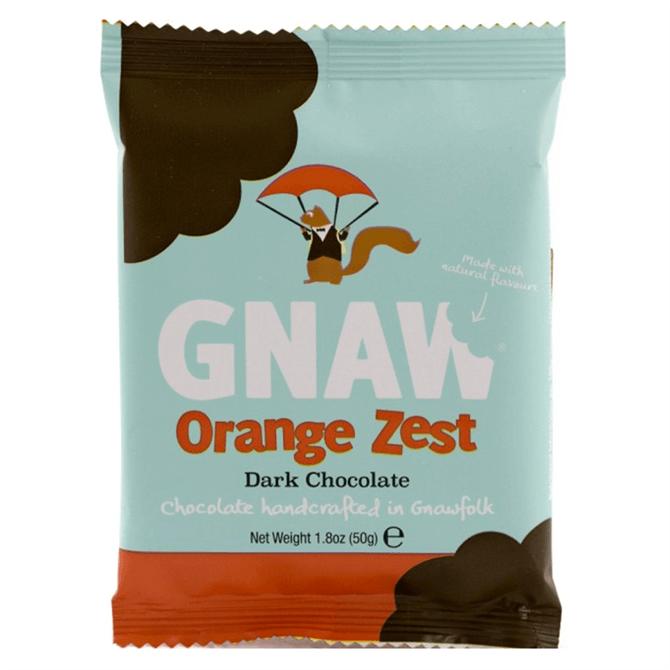 Gnaw Organic Dark Orange Zest Mini Bar 50g