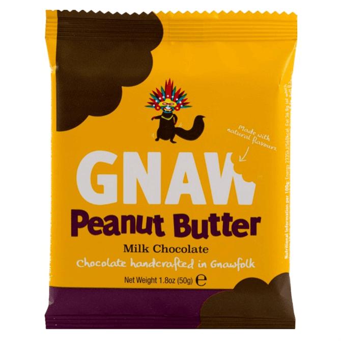 Gnaw Milk Chocolate & Peanut Butter Mini Bar 50g
