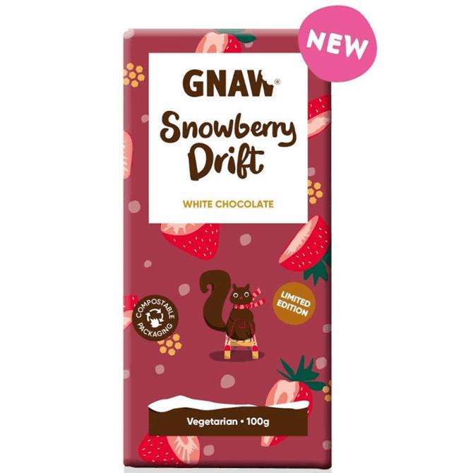 Gnaw White Chocolate Snowberry Drift 100g