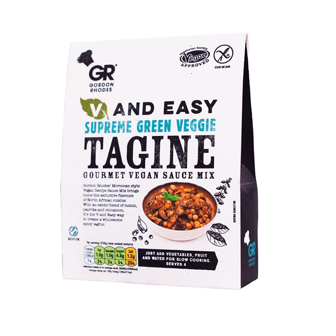 Gordon Rhodes Supreme Green Veggie Tagine Gourmet Vegan Sauce Mix 75g