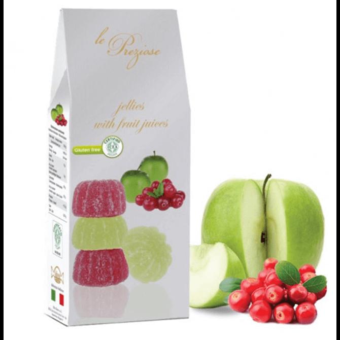 Le Preziose Gluten Free Green Apple and Cranberry Jellies 200g