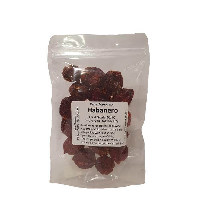 Spice Mountain - Whole Habanero Chillies 20G