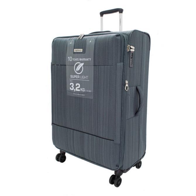 Highbury Savile Row Four Wheel Expandable Suitcase Grey