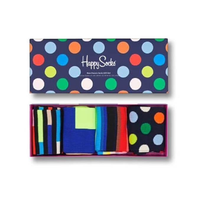 Happy Socks 4-Pack New Classic Gift Set