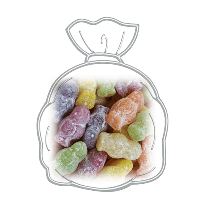 Bag of Candy Shop Fruit Flavoured Dusted Jelly Babies 186g