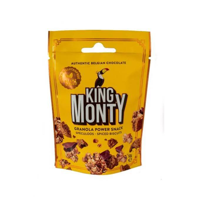 King Monty Granola Snack Spéculoos Spiced Biscuits 50g