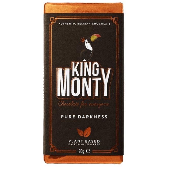 King Monty Plant Based Pure Belgian Chocolate 90g