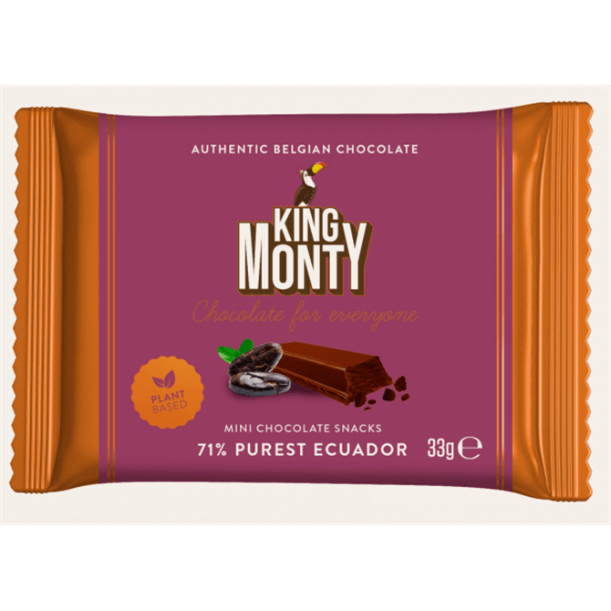 King Monty Mini 71% Purest Ecuador Belgian Chocolate Snack 33g