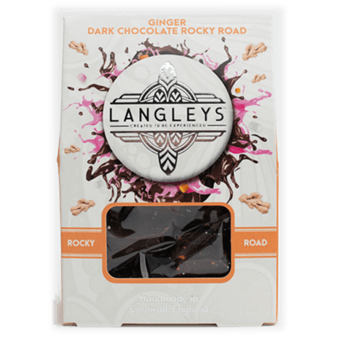 Langelys Ginger and Dark Chocolate Rocky Road 80g