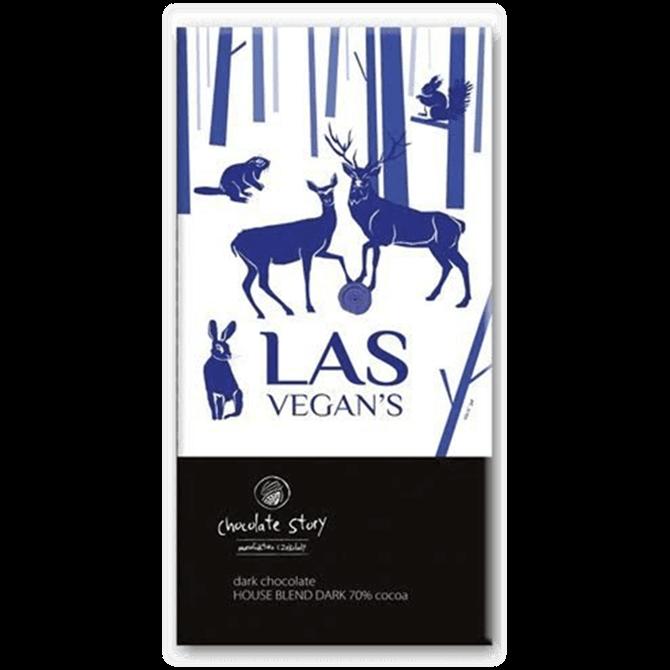 Las Vegan's House Dark Blend 70% Cocoa 50g