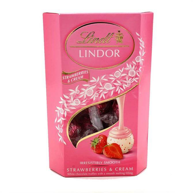 Lindt LINDOR Strawberries & Cream Chocolate Truffles 200G