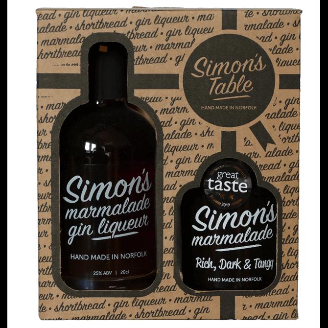 Simon's Table Marmalade & Marmalade Gin Liqueur Gift Pack