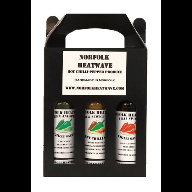 Norfolk Heatwave Medium Heat Sauce Gift Pack 3x 150ml