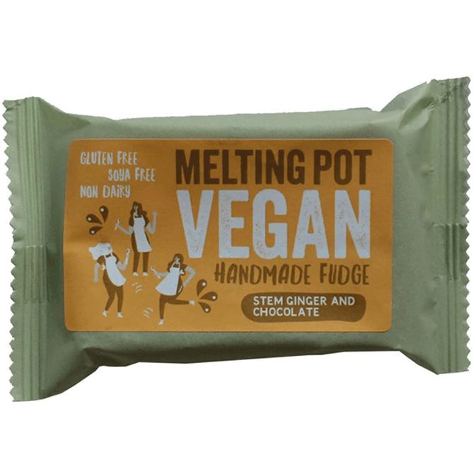 Melting Pot - Handmade Stem Ginger and Chocolate Vegan Fudge 90g