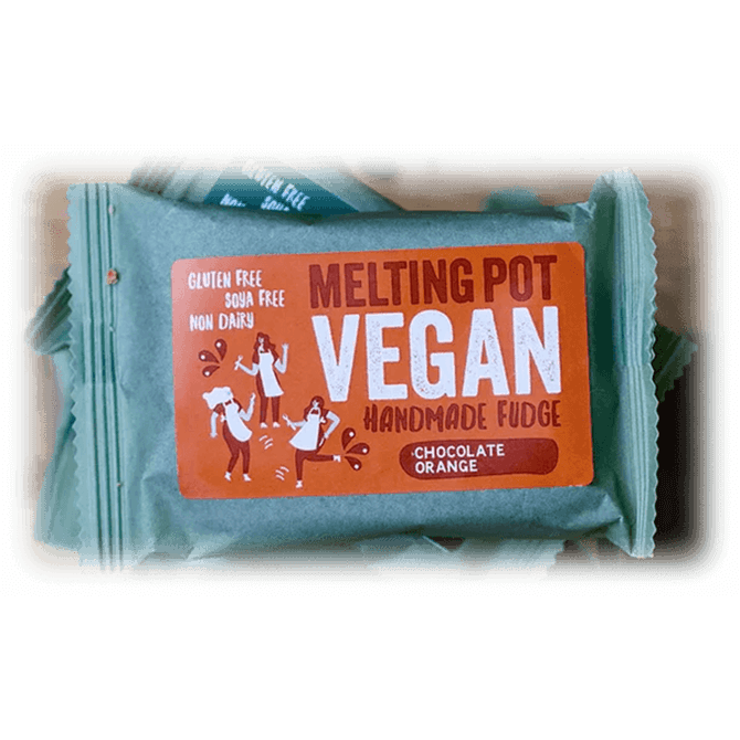 Melting Pot - Handmade Chocolate Orange Vegan Fudge 90g