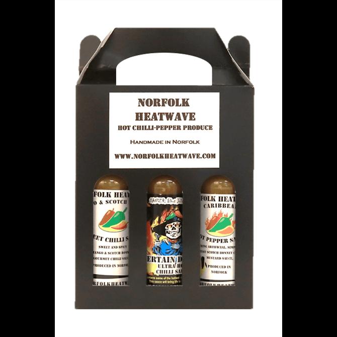 Norfolk Heatwave Mildest Heat Sauce Gift Pack 3x 150ml