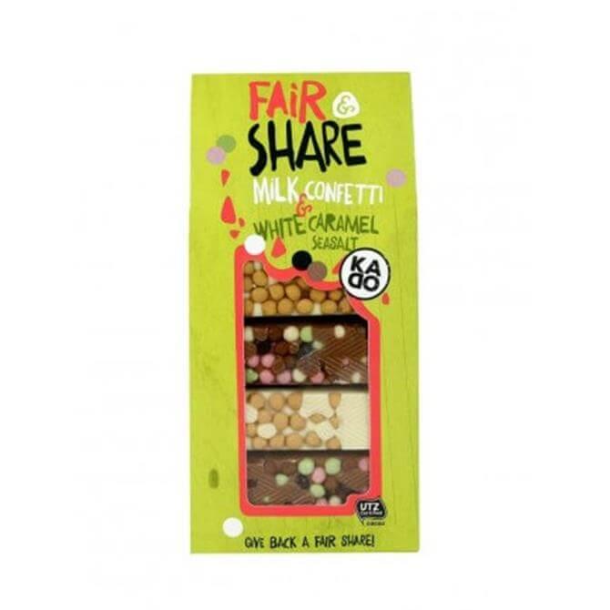 Fair & Share Milk Confetti & White Caramel Sea Salt 160g