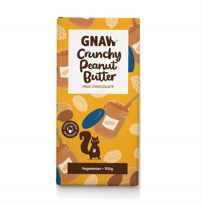 Gnaw Crunchy Peanut Butter Milk Chocolate Bar 100g