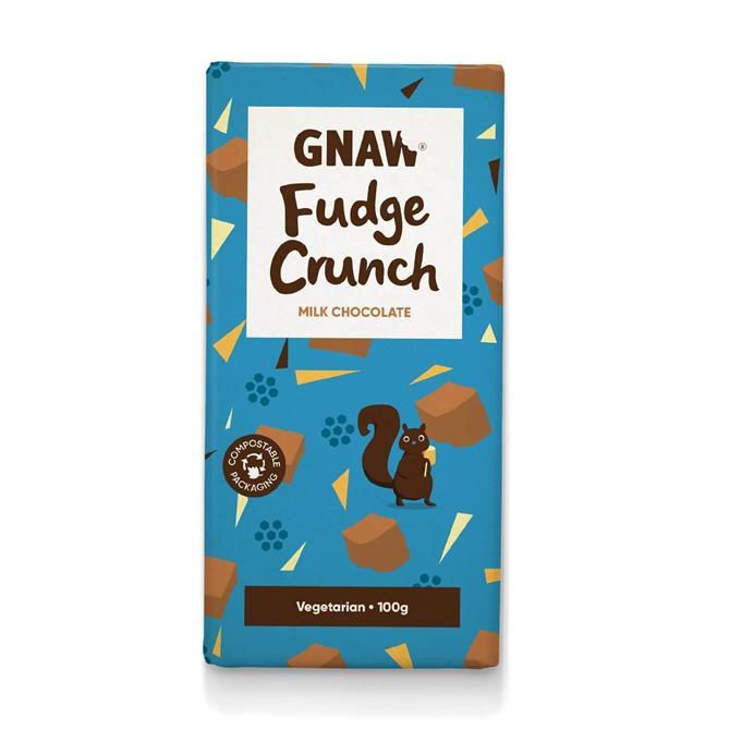 DNPL Gnaw Fudge Crunch Milk Chocolate Bar 100g