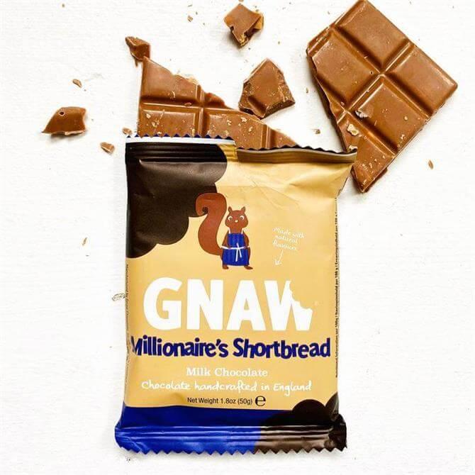 Gnaw Millionaire's Shortbread Milk Chocolate Bar 50g