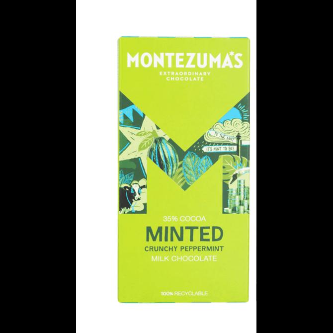 Montezuma's Milk Chocolate With Crunchy Peppermint 90g