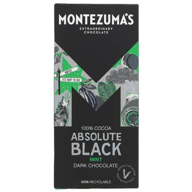 Montezuma's Absolute Black 100% With Mint Bar 90G