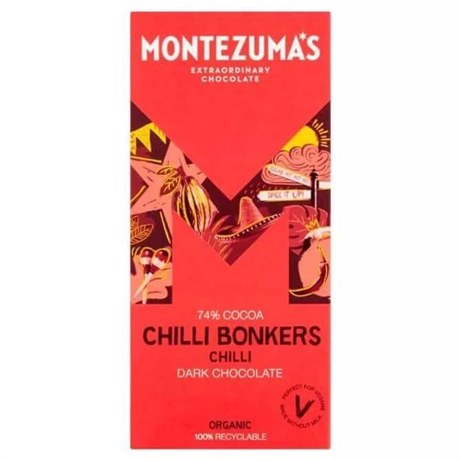Montezumas Chilli Bonkers Dark Chocolate 74 90G