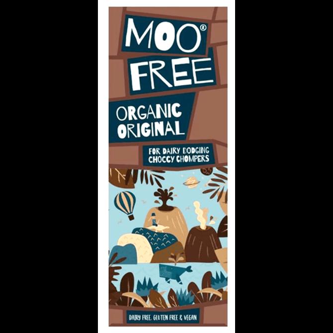 Moo Free Vegan Organic Original Chocolate Bar 80g