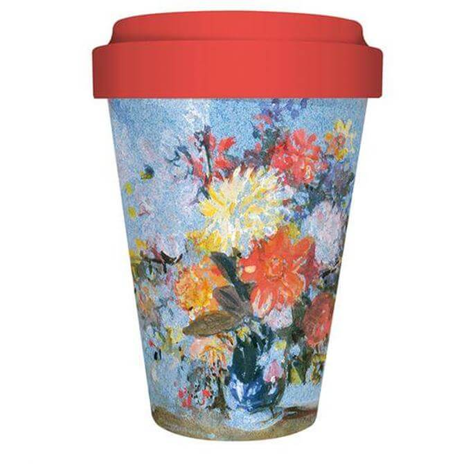 Tate Print -  A Vase of Lillies, Dahlias and Other Travel Mug 450ml