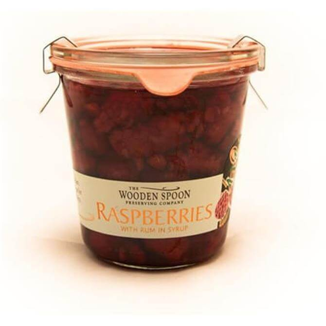 The Wooden Spoon Preserved Raspberries with Rum in Syrup 300g