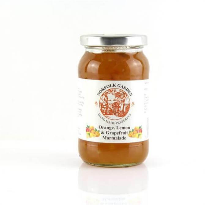 Norfolk Garden Preserved Orange, Lemon and Grapefruit Marmalade 454g