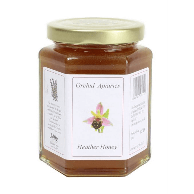Orchid Apiaries Norfolk Heather Clear Honey 340g