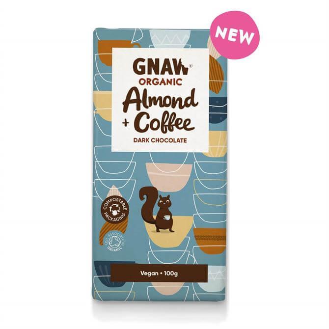 Gnaw Organic Almond & Coffee Dark Chocolate Vegan 100g