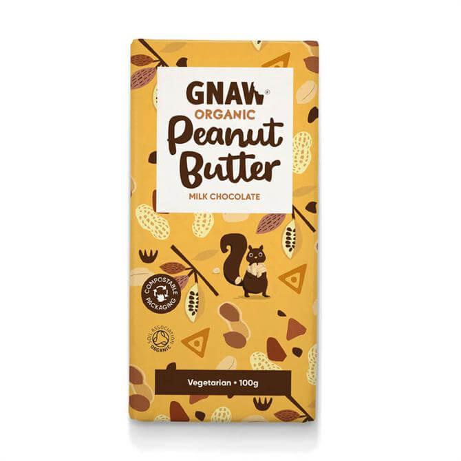 Gnaw Organic Peanut Butter Milk Chocolate Bar 100g