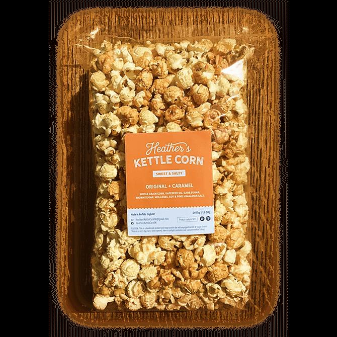 Heather's Kettle Corn Sweet & Salty Original + Caramel Popcorn Mix