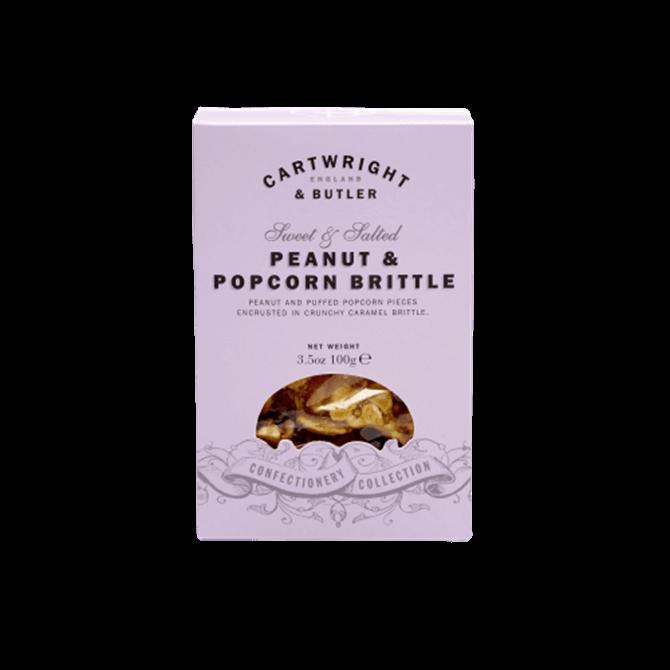 Cartwright & Butler Peanut & Popcorn Brittle in Carton 100g