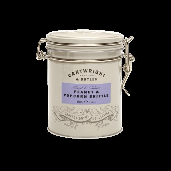 Cartwright & Butler - Peanut & Popcorn Brittle in Tin 100g