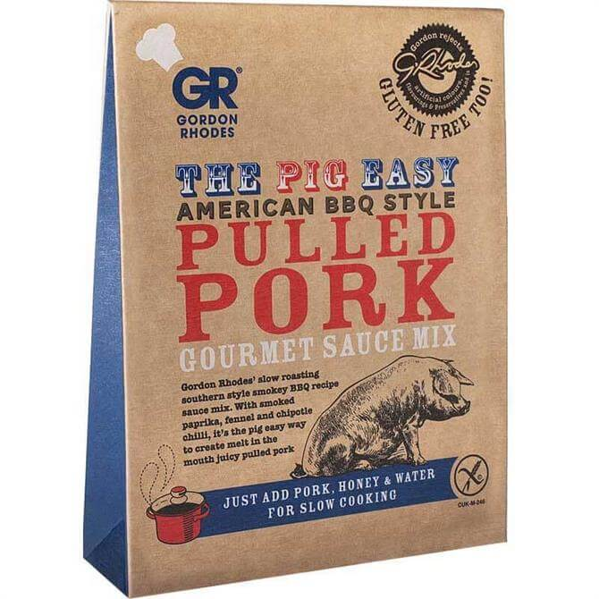 Gordon Rhodes Pig Easy American BBQ Style Pulled Pork Gourmet Sauce Mix 75g