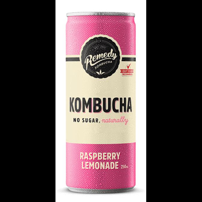 Remedy Kombucha No Sugar Raspberry Lemonade 250ml