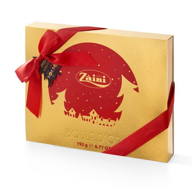 ZAINI BOULE D'OR MILK & DARK CHOCOLATE PRALINES CHRISTMAS BOX 192G