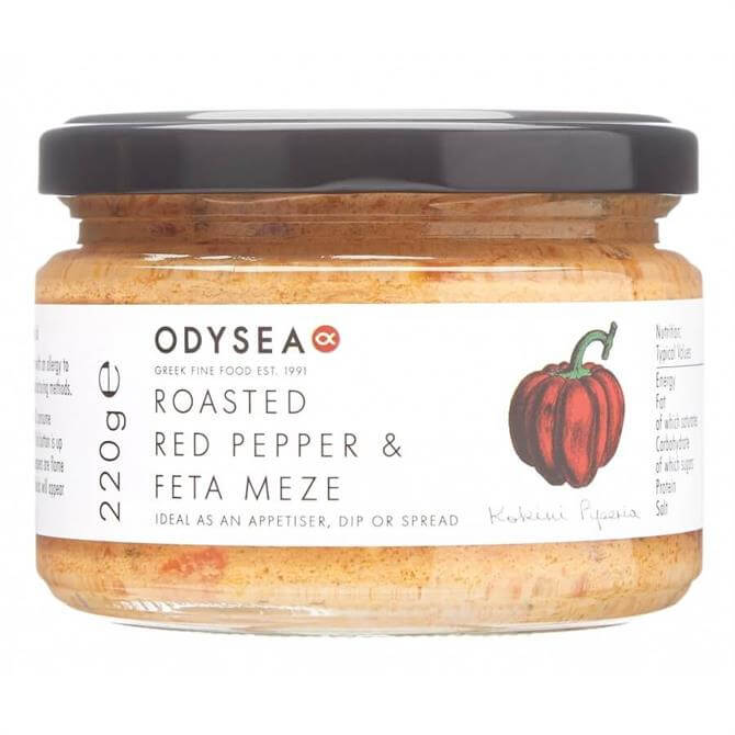 Odysea Roasted Red Pepper and Feta Meze 220g